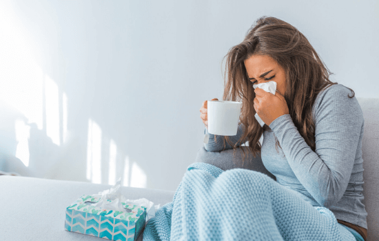 Woman with recurrent sinus infections caused by an immune deficiency