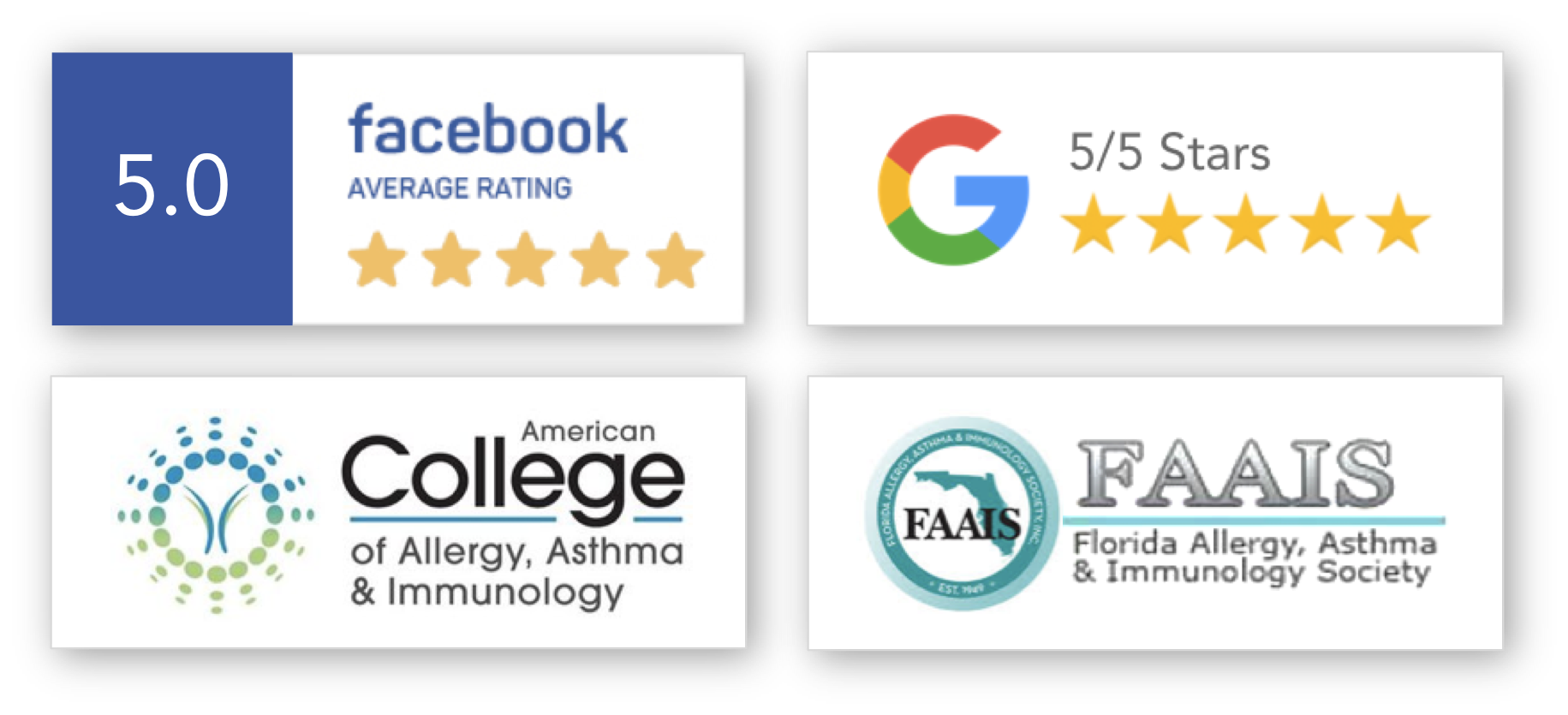 Biologic therapy provider Dr. Pavana Beerelli of Melbourne Allergy & Asthma review badges and affiliations